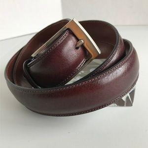 Perry Ellis Cordovan Italian Leather Belt - Sz 34